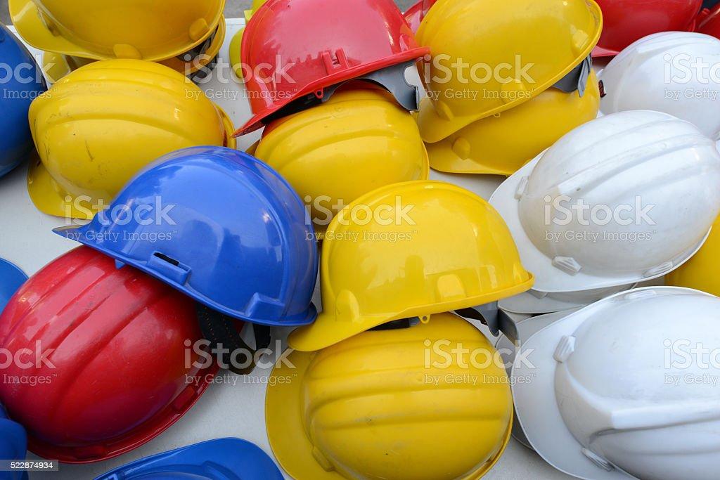 Work safety helmet stock photo