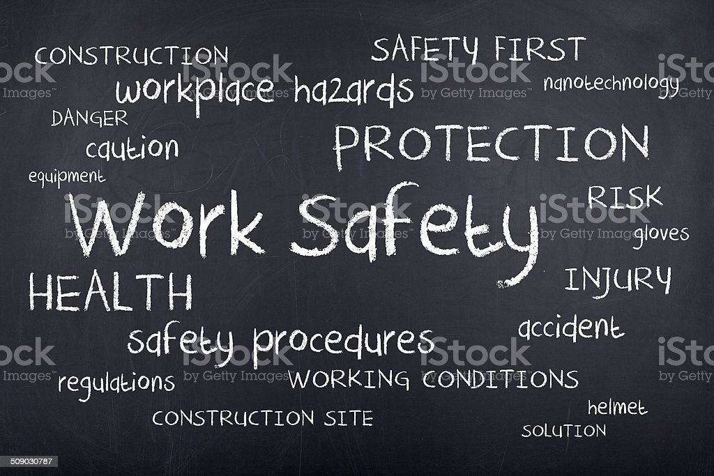 Work Safety Word Cloud stock photo