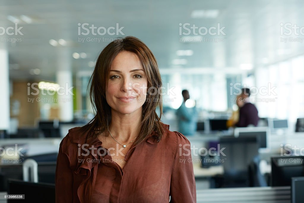 Work satisfaction: check! stock photo