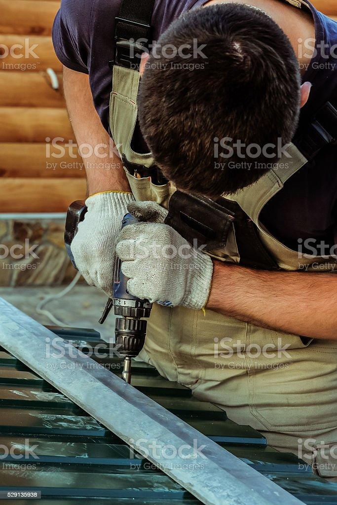 Work screwdriver stock photo
