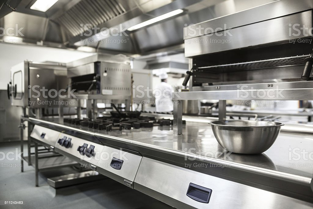 Work surface and kitchen equipment stock photo