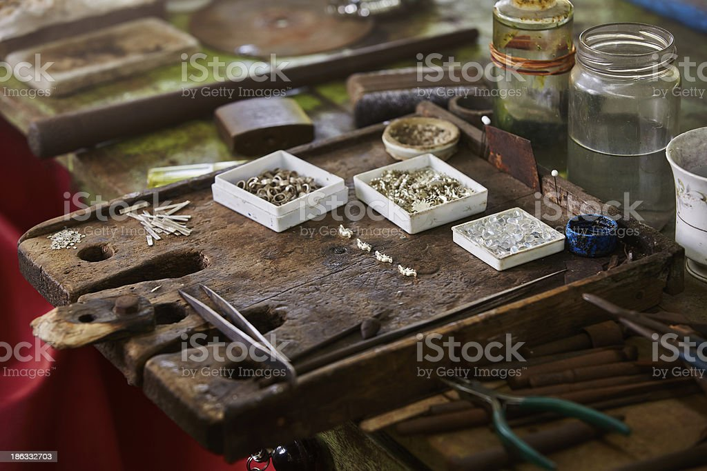 Work table royalty-free stock photo