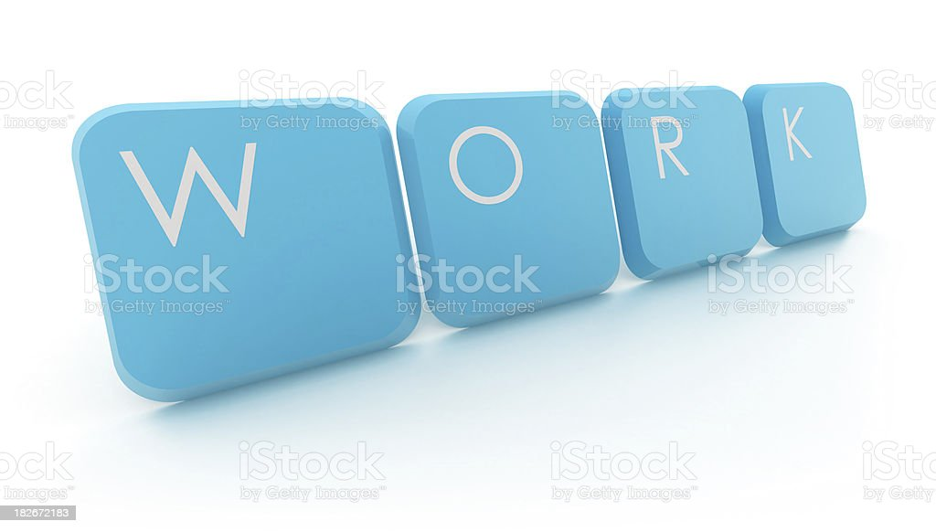 work - text with keys royalty-free stock photo