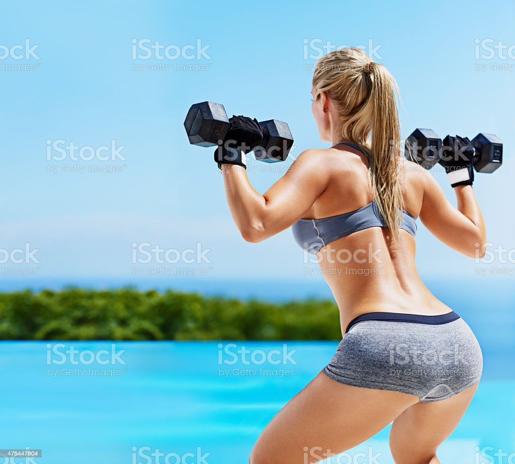 Work them glutes! stock photo