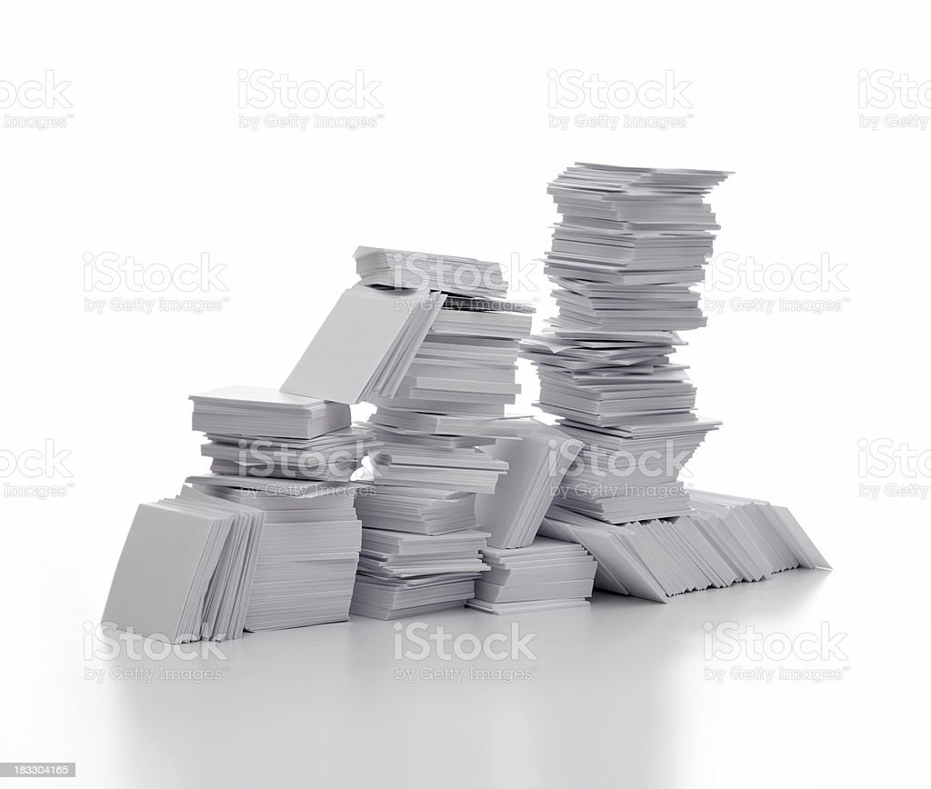 Work to do (pile of paper) royalty-free stock photo