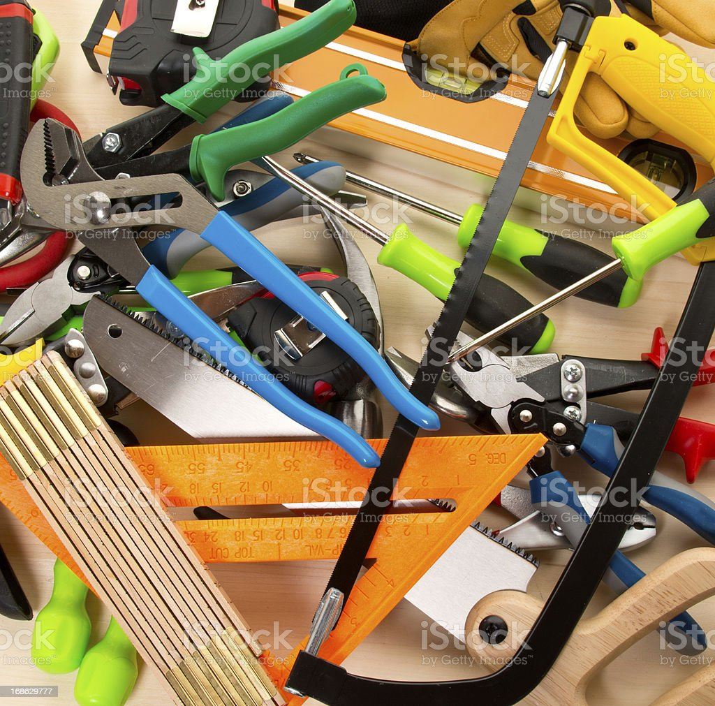 Work Tools Background royalty-free stock photo