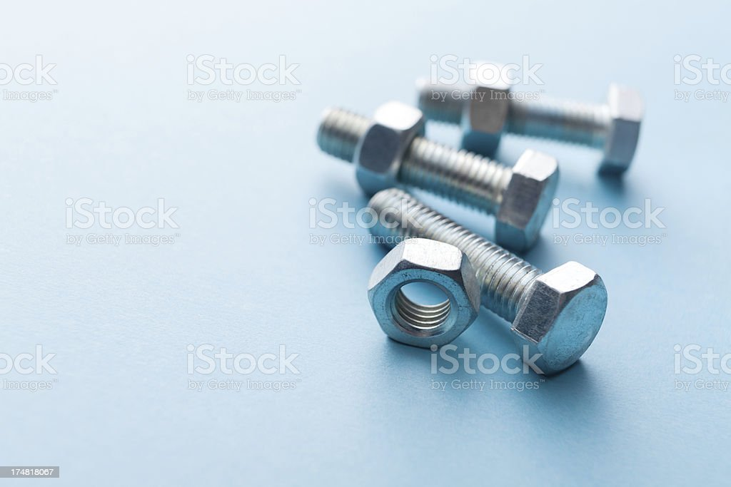 Work Tools: Bolts and Nuts royalty-free stock photo