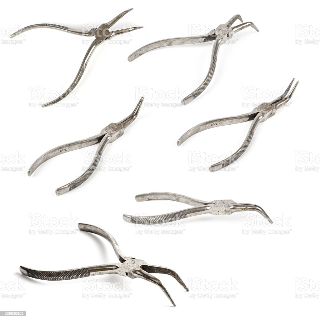 work tools from different angles - angle pincer stock photo