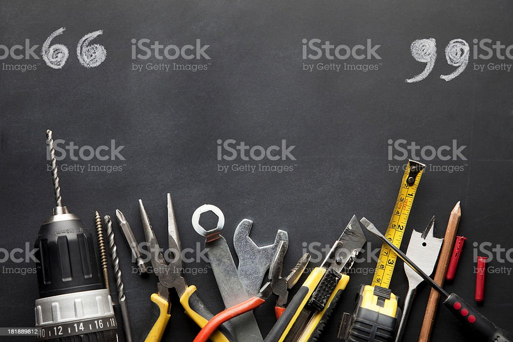 Work tools with copy space stock photo