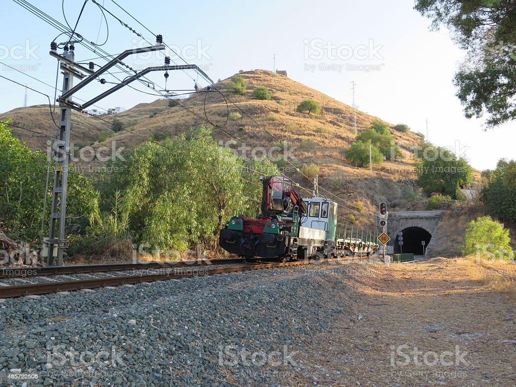 Work train stock photo