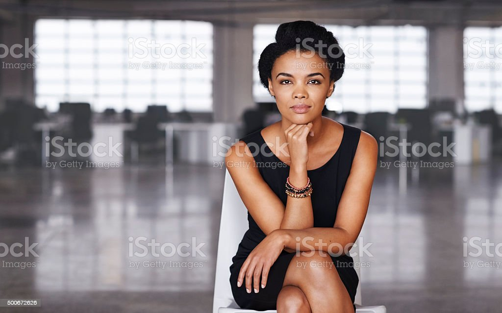 Work until you no longer have to introduce yourself stock photo