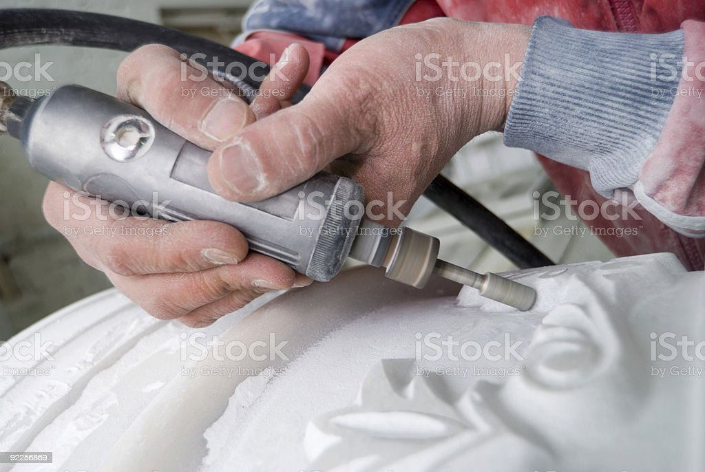 Work with a marble stock photo