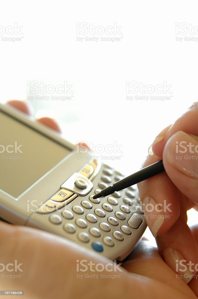 Work with a PDA stock photo