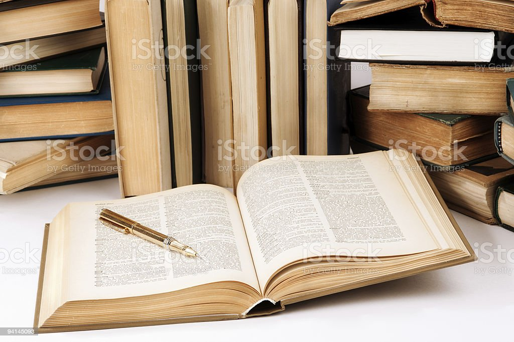 work with books royalty-free stock photo