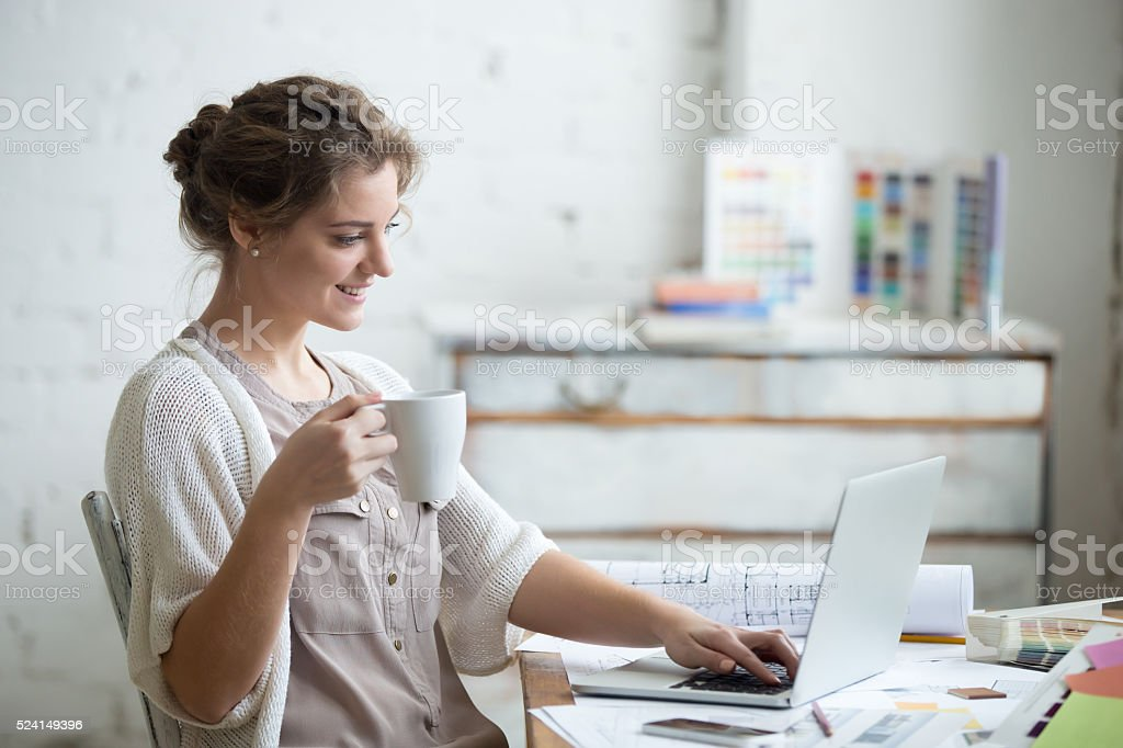 Work with enjoyment stock photo