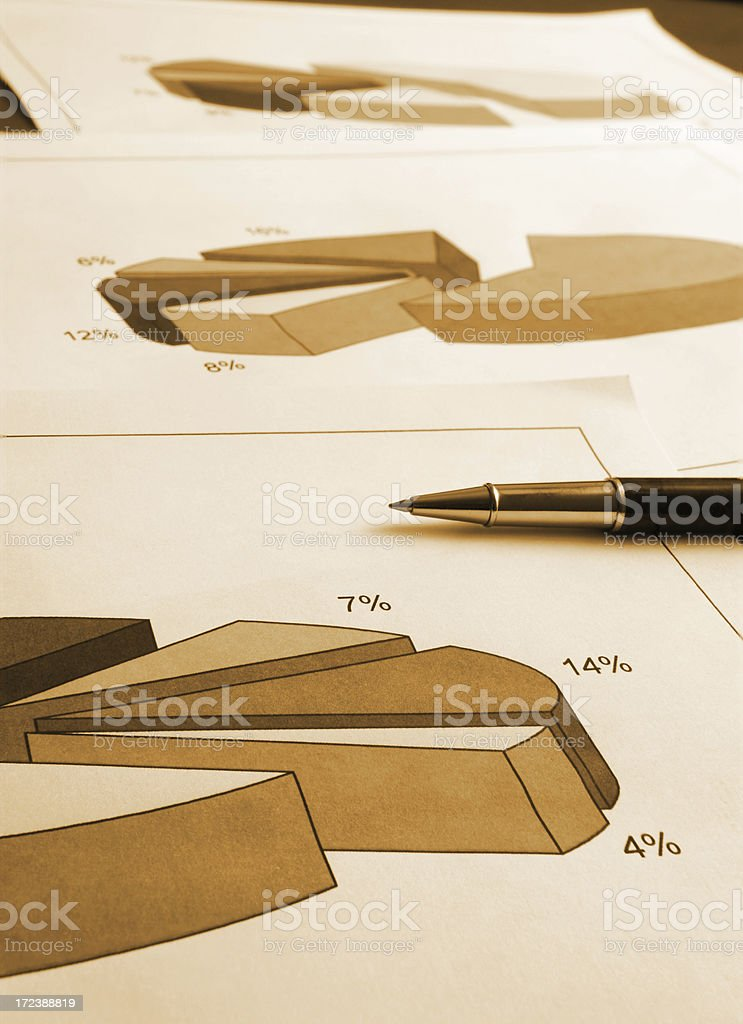 work with graphs royalty-free stock photo