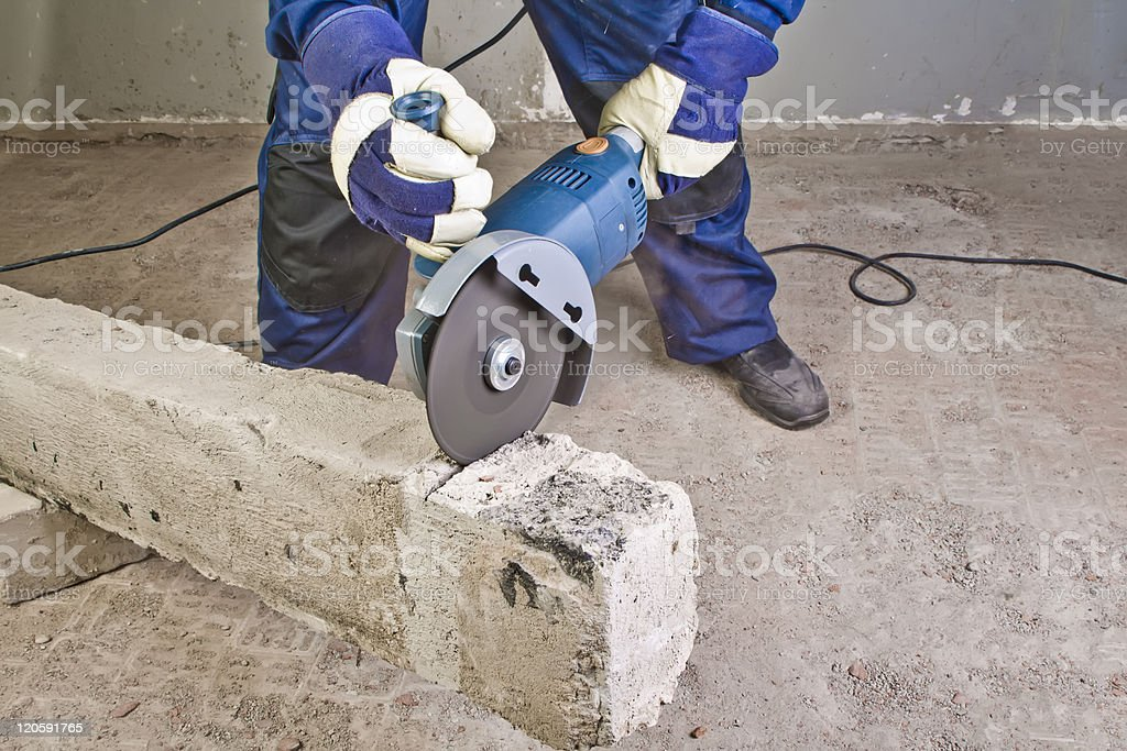 Work with grinder royalty-free stock photo