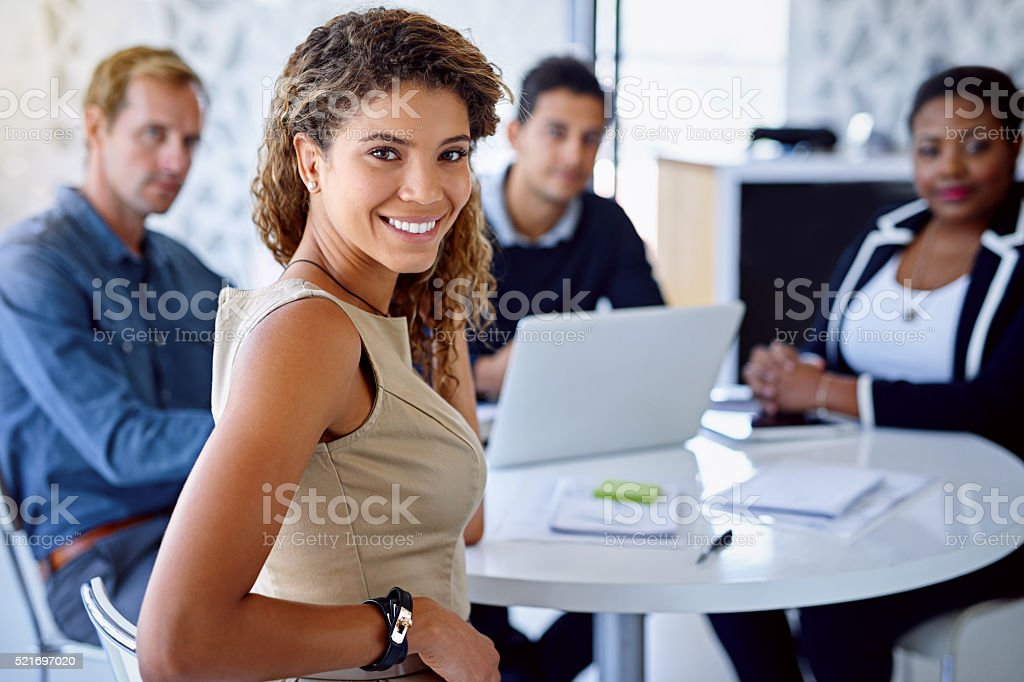 I work with the best! stock photo