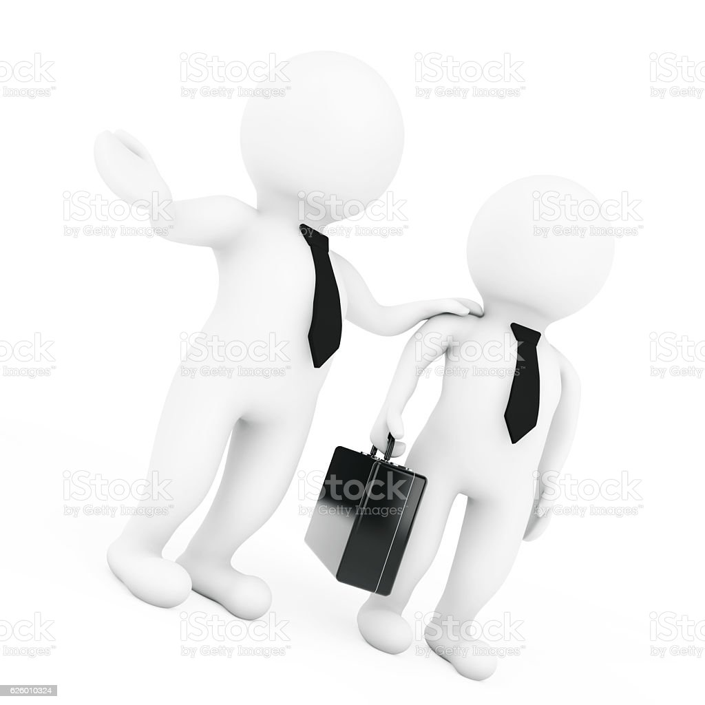 Work with Us Concept. 3d Manager Employ the Skill. stock photo