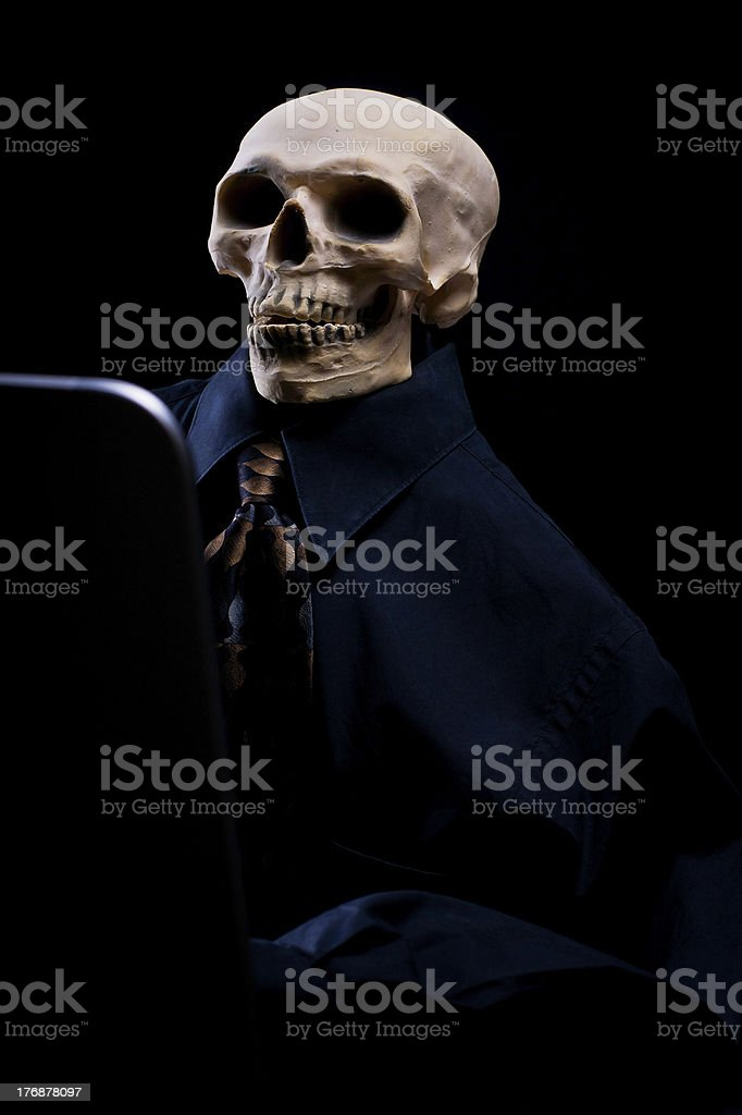 Worked To Death stock photo