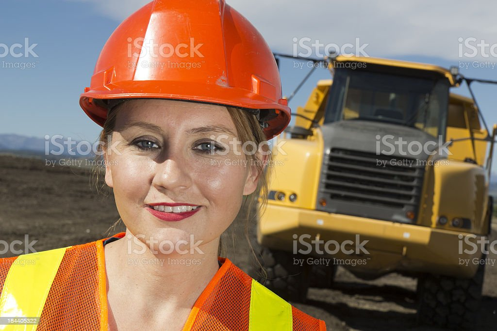 Worker and Truck royalty-free stock photo