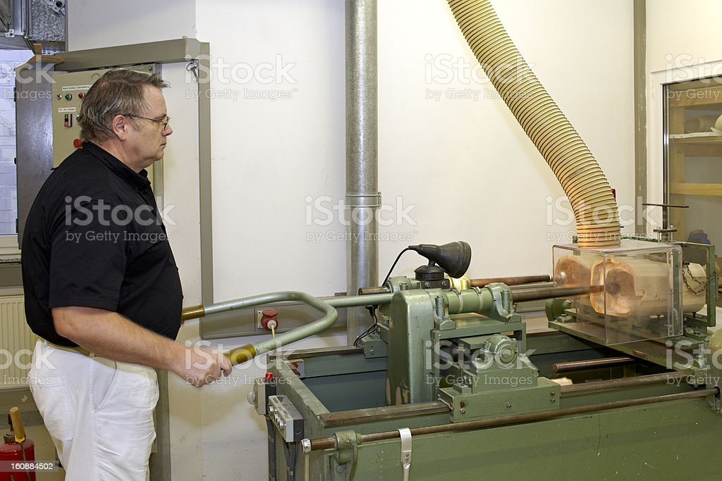 Worker at copying machine. royalty-free stock photo