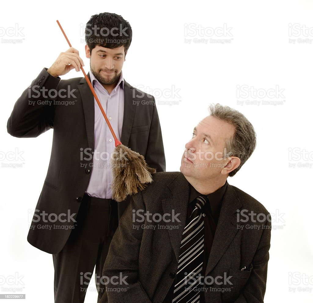 Worker doing merits to be promoted stock photo