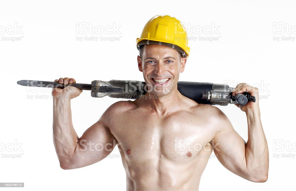 Worker drill. royalty-free stock photo