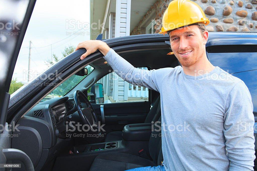 Worker - Employee Truck Standing royalty-free stock photo