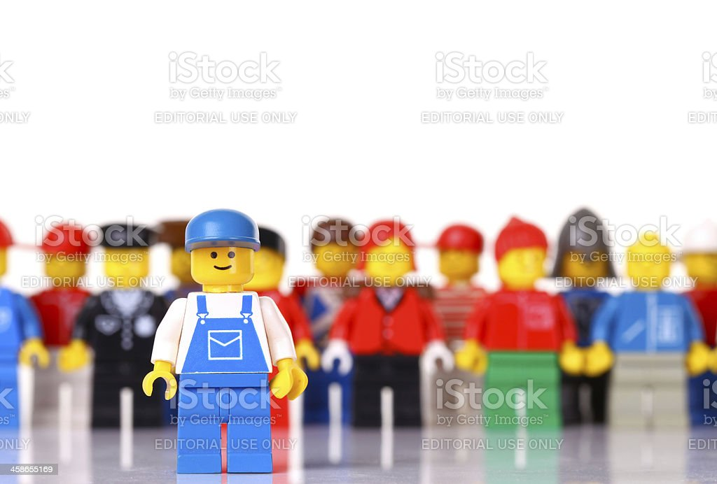 LEGO worker figure royalty-free stock photo