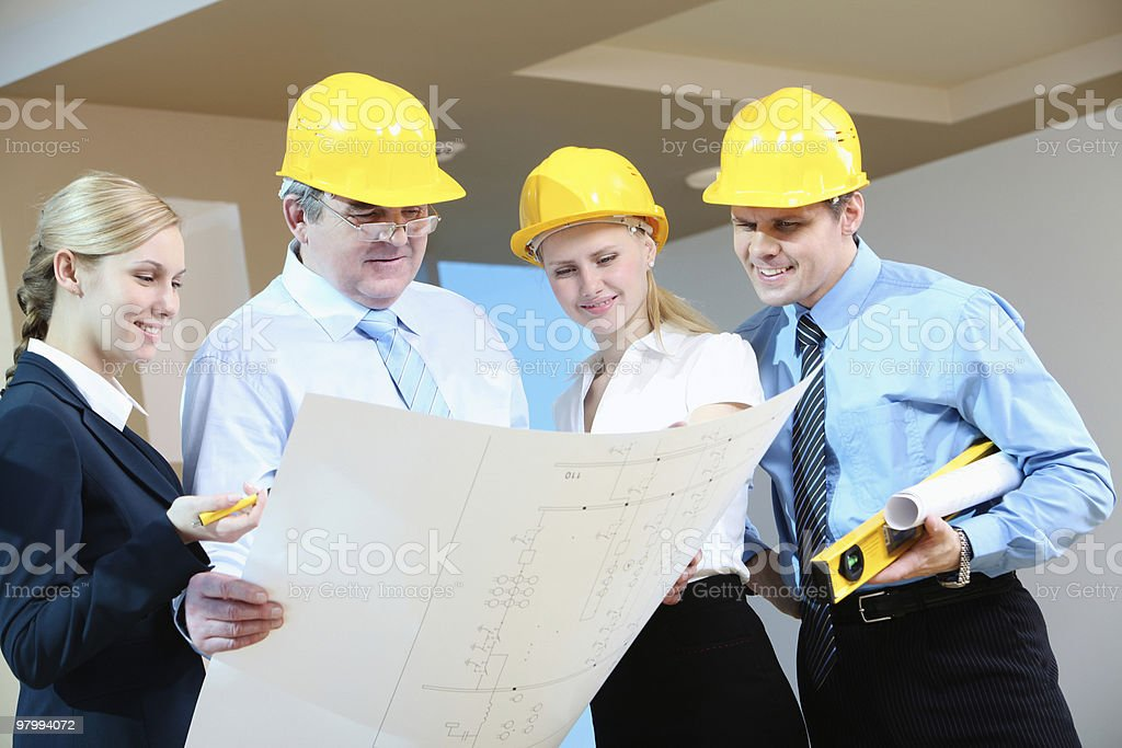 Worker group royalty-free stock photo