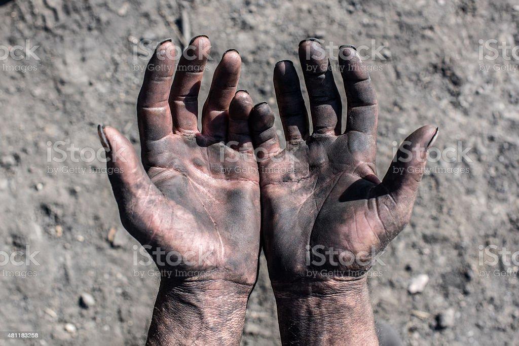 Worker Hands. stock photo