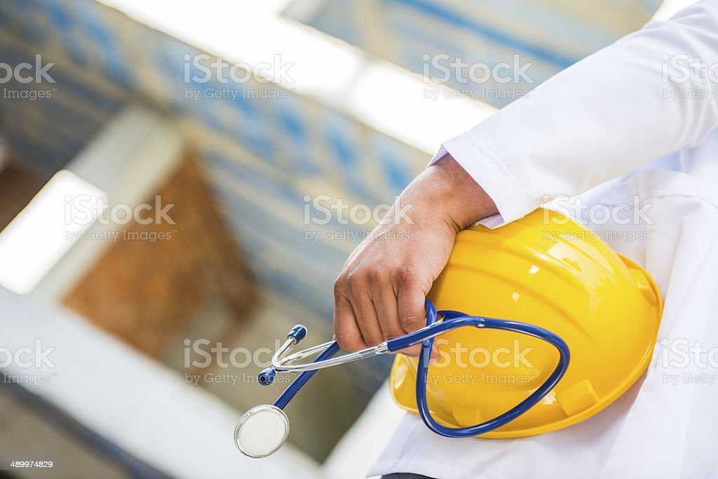 worker health and safety stock photo