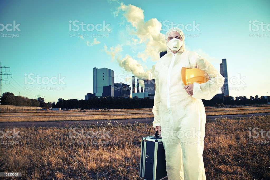Worker in saftey suit royalty-free stock photo