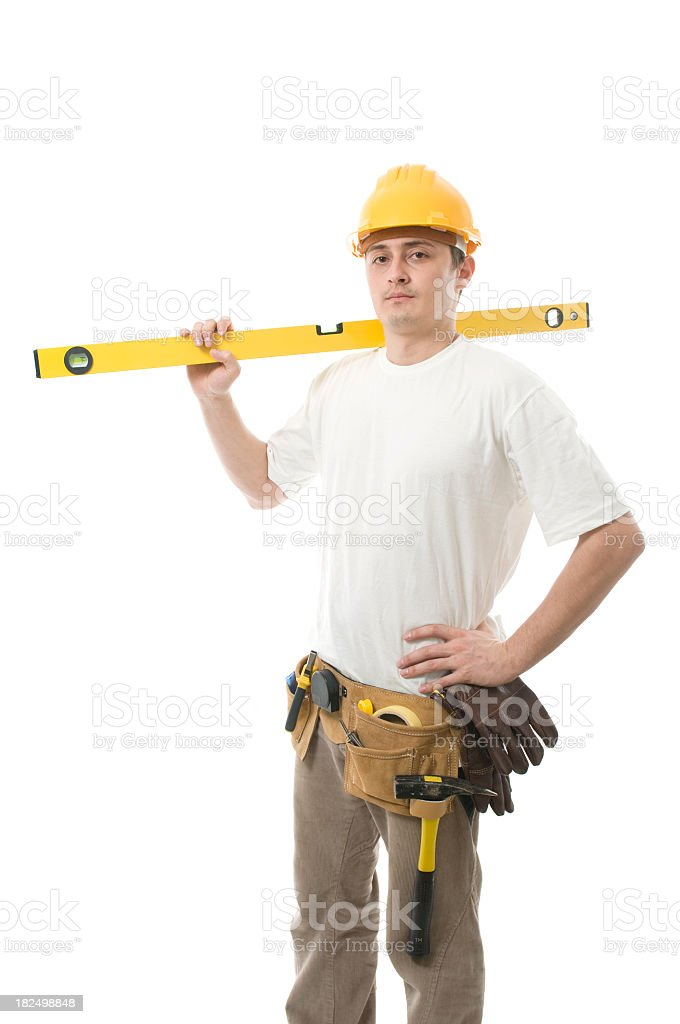 Worker isolated on white royalty-free stock photo