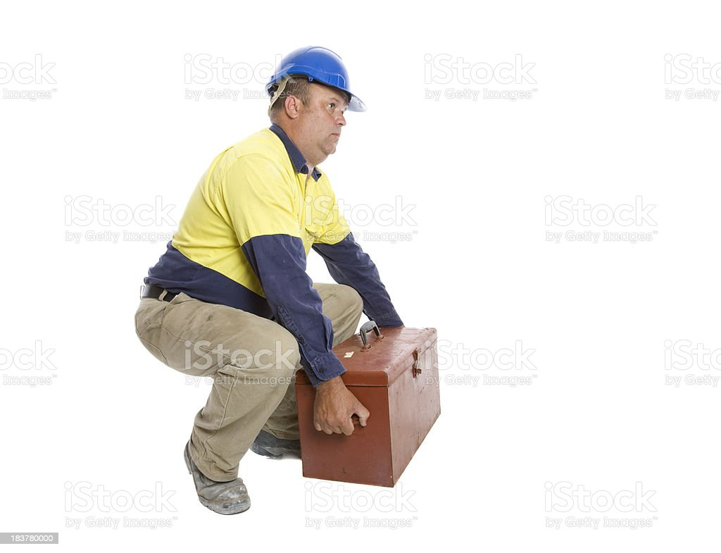 Worker Lifting royalty-free stock photo
