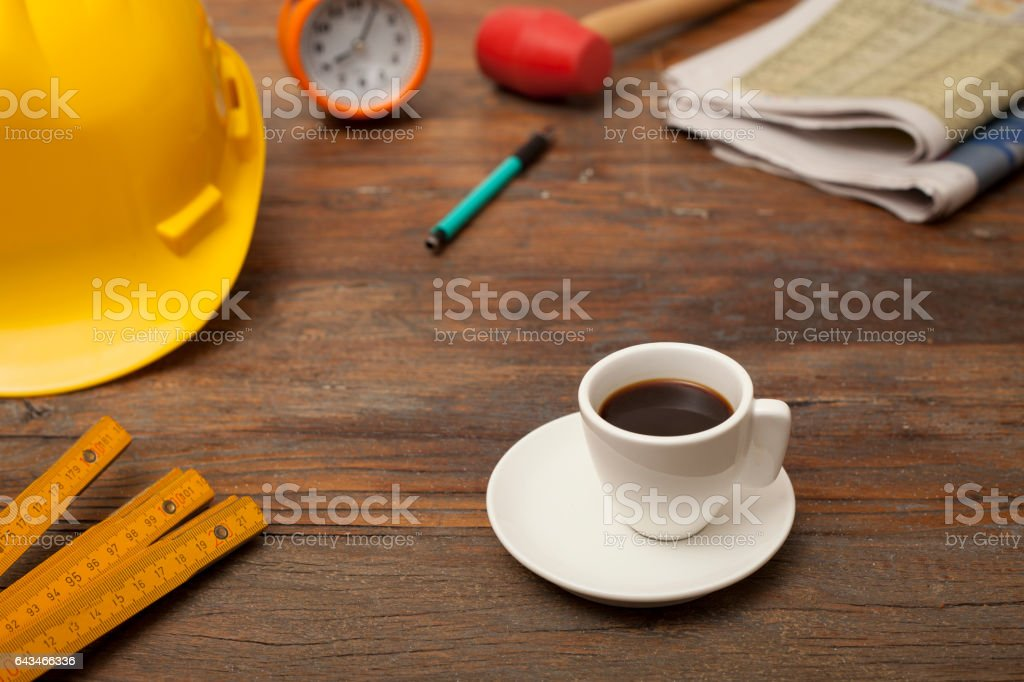 worker looking for stock photo