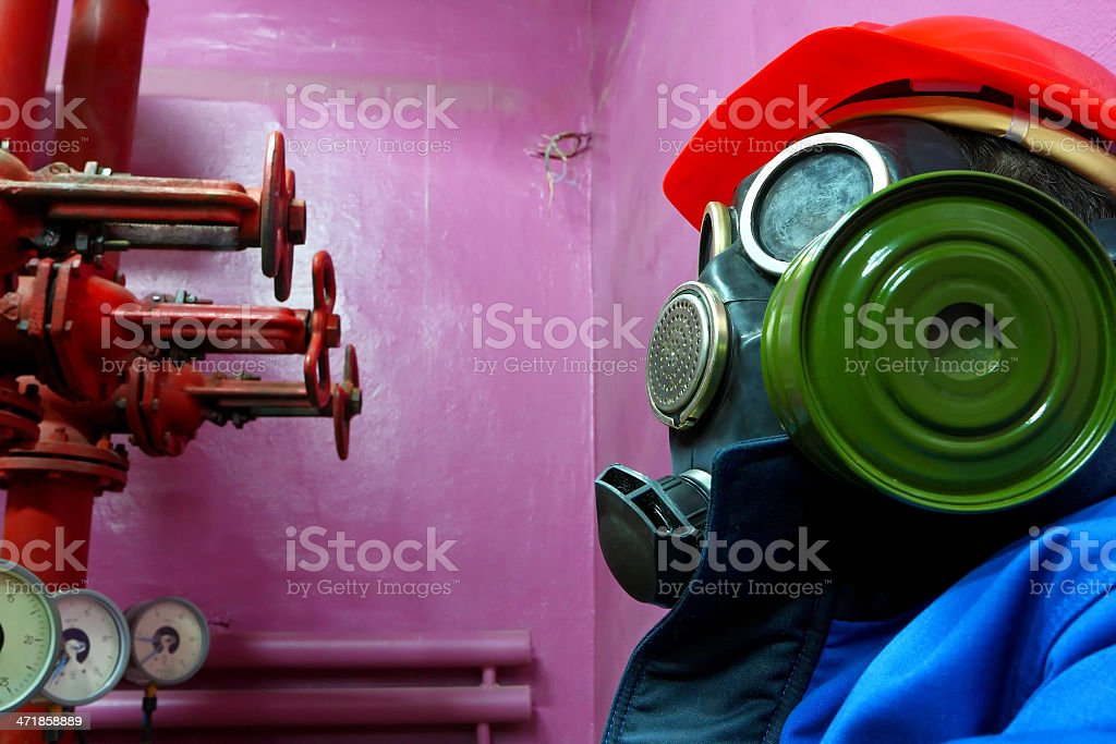 Worker of chemical plant royalty-free stock photo