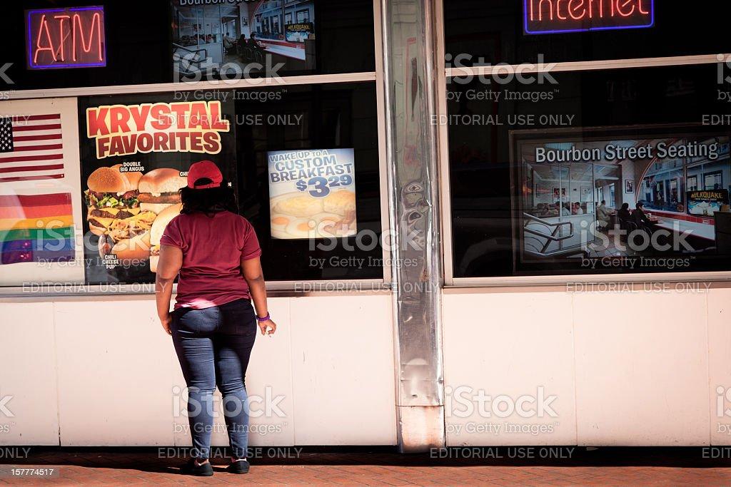 Worker on a break royalty-free stock photo