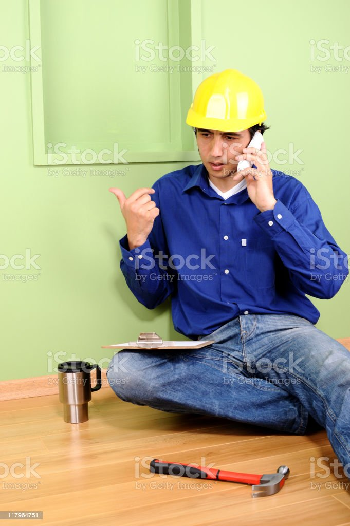 Worker on the phone royalty-free stock photo