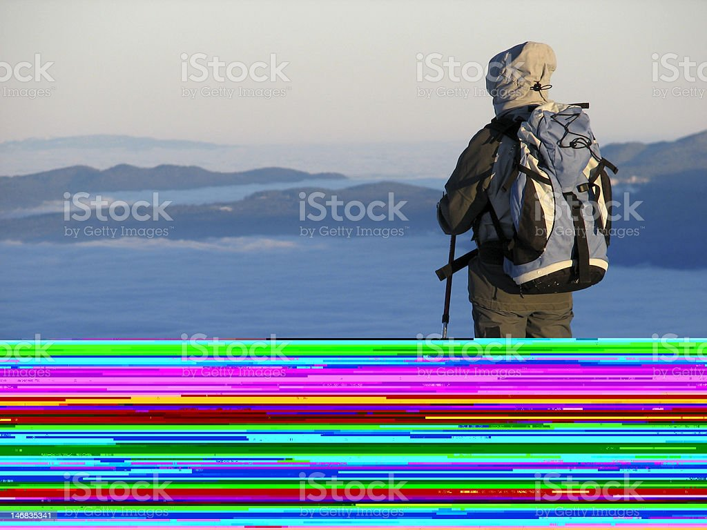 Worker on top royalty-free stock photo
