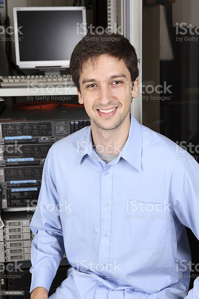 IT Worker royalty-free stock photo