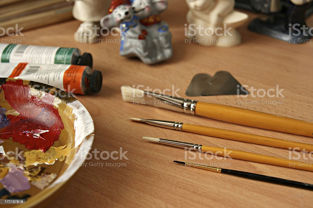 worker place artist royalty-free stock photo
