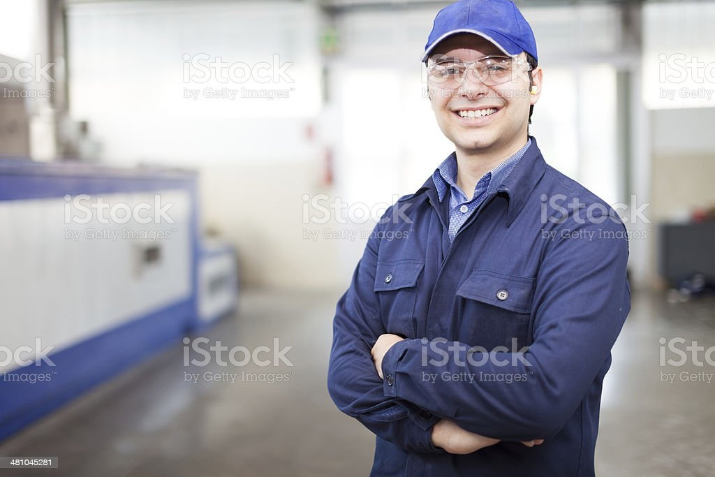 Worker portrait stock photo