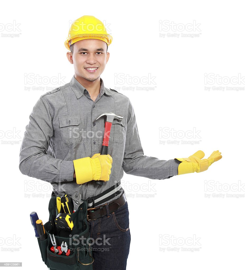 worker ready to work royalty-free stock photo