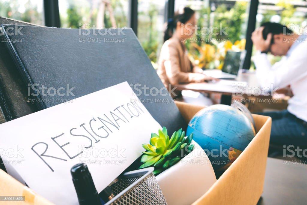 Worker resignation. Business unemployment concept. stock photo