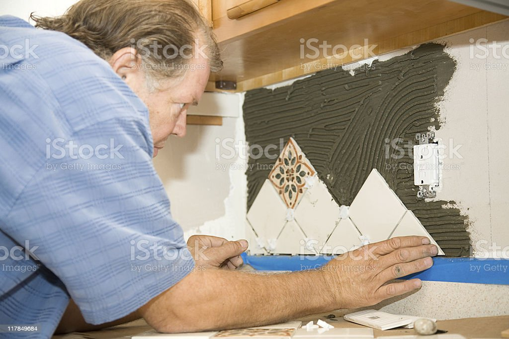 Worker Sets Tile royalty-free stock photo