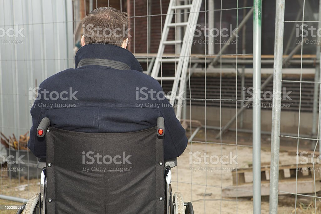 Worker suffering from an illness stock photo
