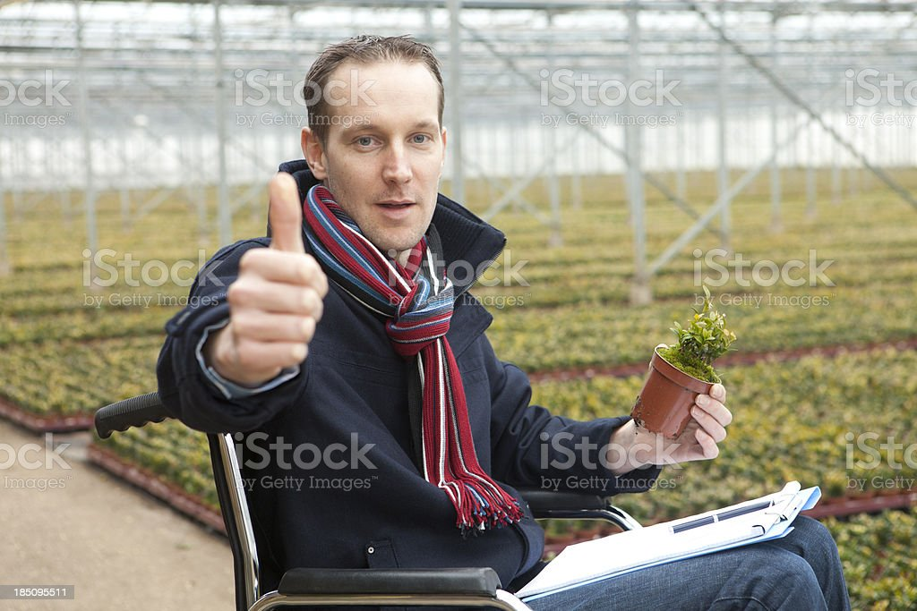Worker suffering from an illness. stock photo