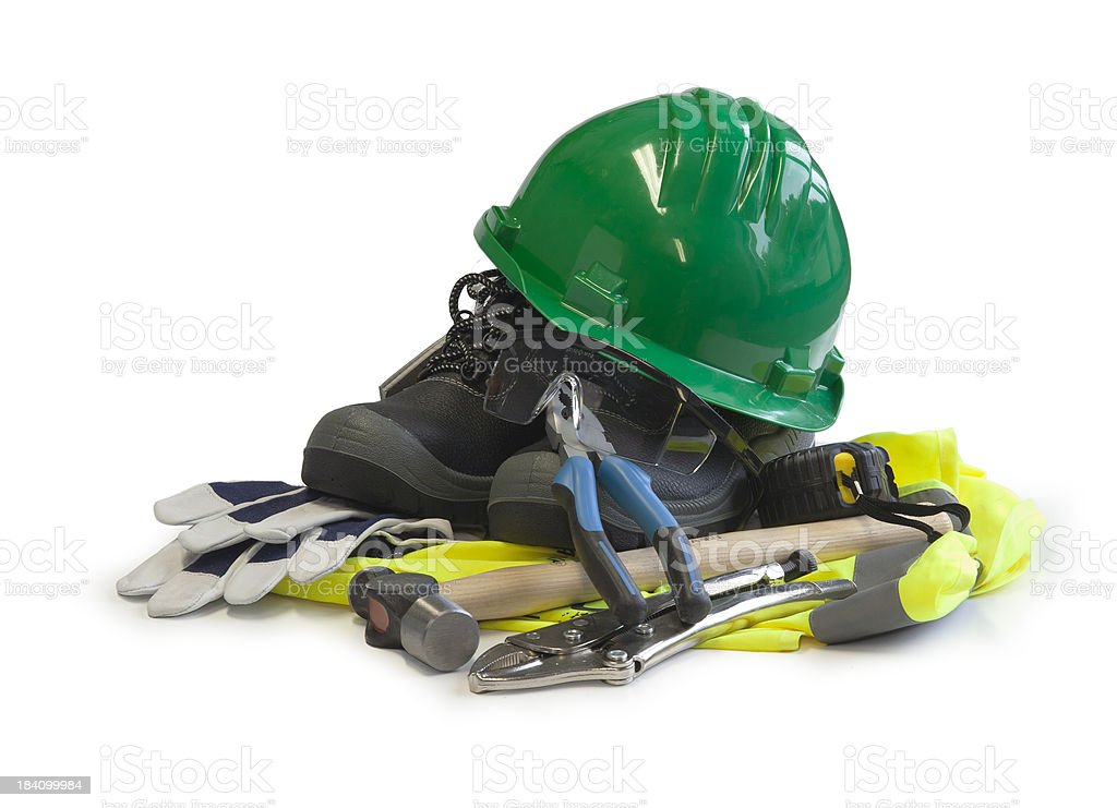 Worker tools stock photo